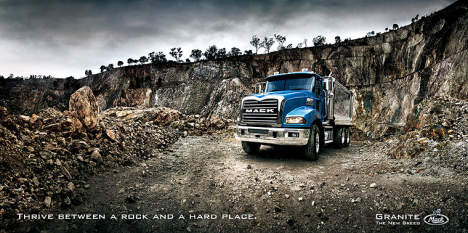 Mack Granite print advertisement