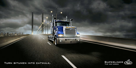 Mack Superliner print advertisement