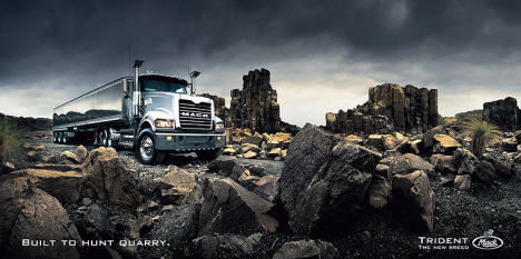 Mack Trident print advertisement
