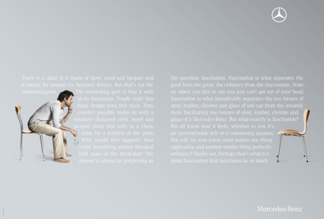 Mercedes chair print ad