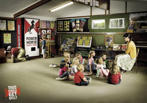 Kindergarten Power Horse print advertisement