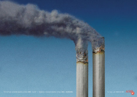 ASH Twin Towers print advertisement