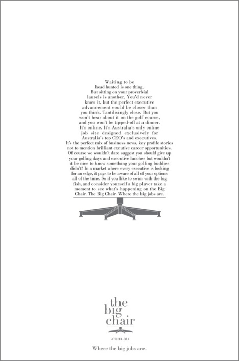 Big Chair Chair print ad