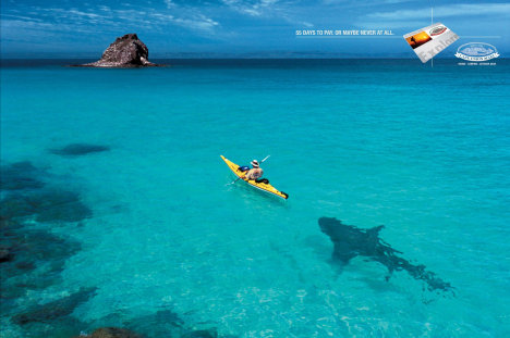 Shark in Cape Union Mart print advertisement