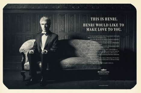 Herringbone Make Love To You print ad