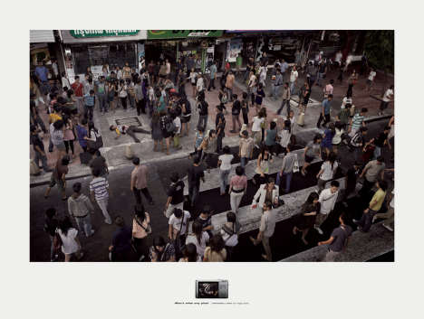 Murder captured by Panasonic Lumix print advertisement