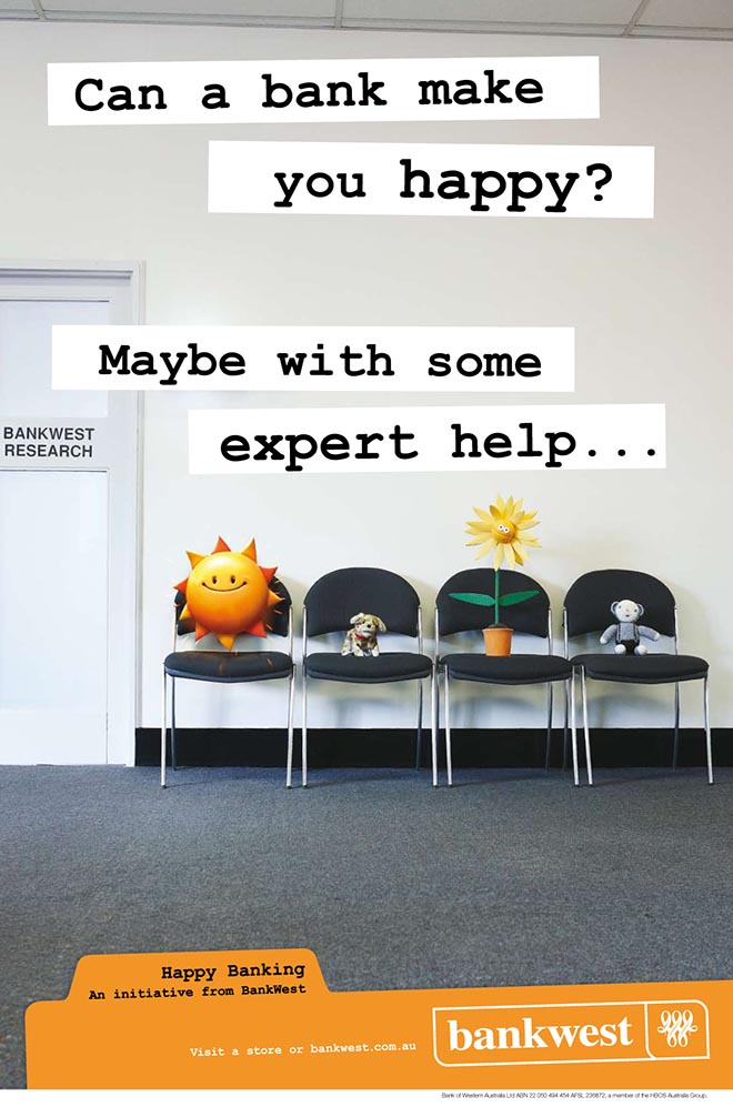 Bankwest Happy poster