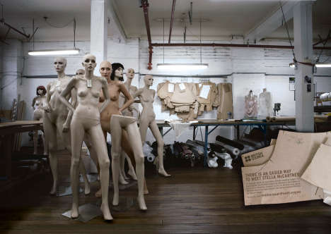 British Council Mannequins print ad