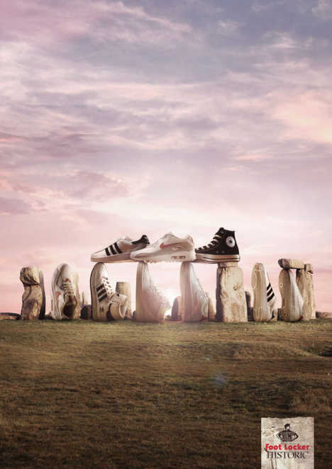 Footlocker Stonehenge print advertisement