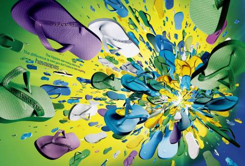Lime Big Bang Havaianas print advertisement