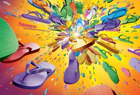 Orange Big Bang Havaianas print advertisement