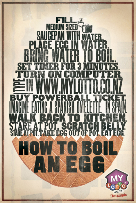 How to boil an egg for Lotto