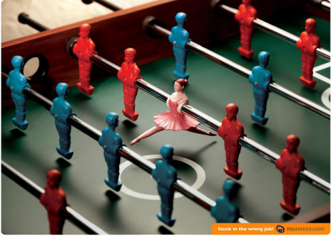 Ballerina in Table Soccer game