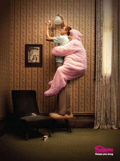 Pinkbatts Lightbulb print ad