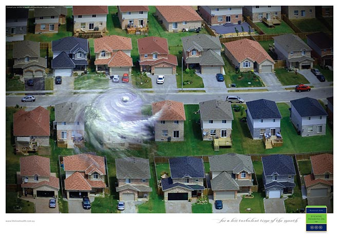 Turbulence in house for Primrose Oil print ad