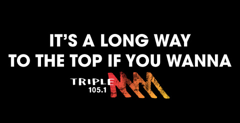 Triple M Rock Top print advertisement