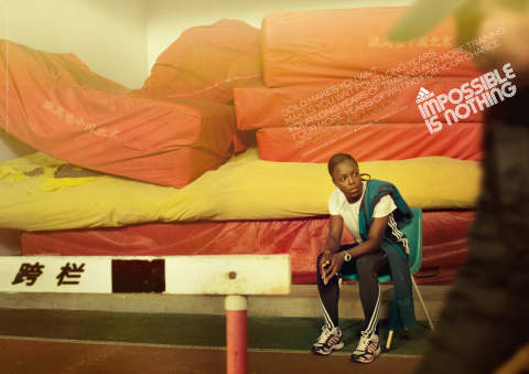 Veronica Campbell-Brown in Adidas Olympics print ad