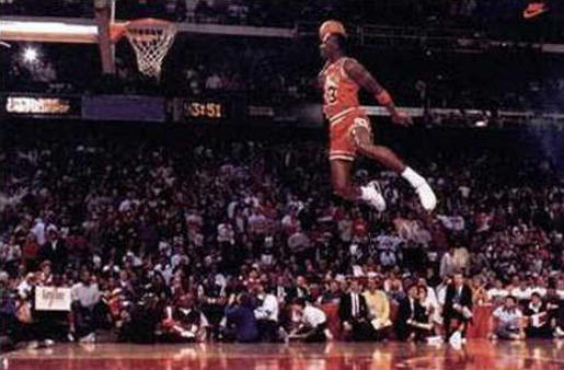 Michael Jordan slam dunks
