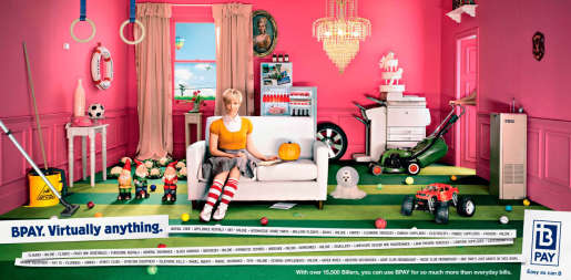 Female version of bpay Virtually Anything print advertisement