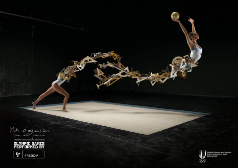 Elisa Santoni in Freddy Olympics print advertisement