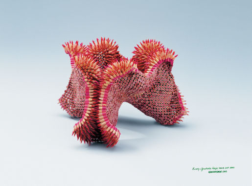 Greenpeace Seethe print advertisement