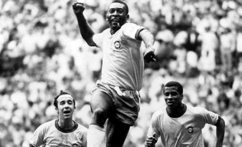 Pele in victory at World Cup Final 1958