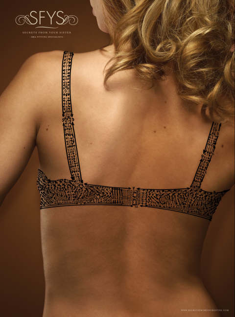 Secrets from Your Sister back view of bra
