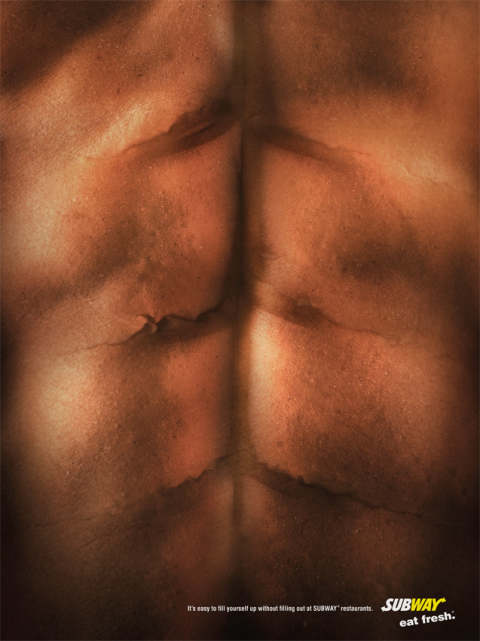 Subway Abs print advertisement