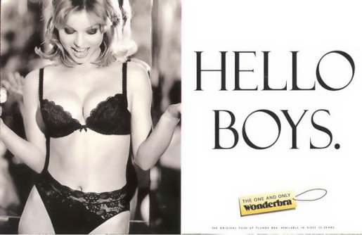 Wonderbra Hello Boys billboard