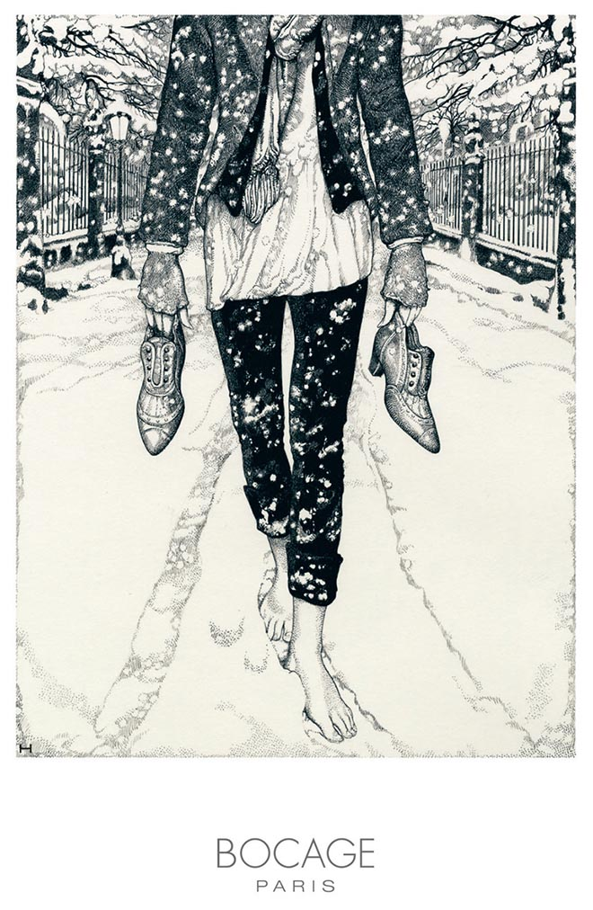 Bocage Snow print advertisement