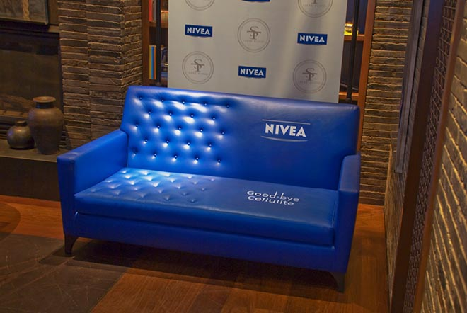 Nivea Couch with cellulite smoothed