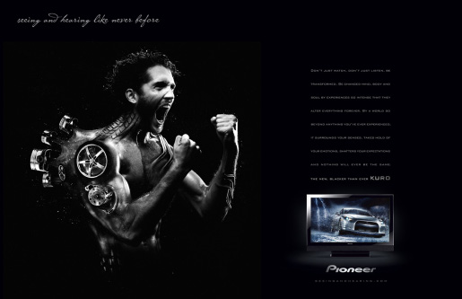Pioneer Kuro Car Guy magazine spread advertisement
