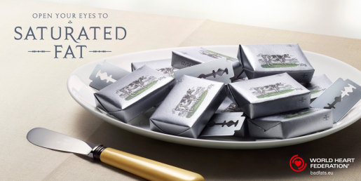 Butter in WWF Saturated Fat print advertising campaign