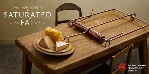 Cheese in WWF Saturated Fat print advertising campaign