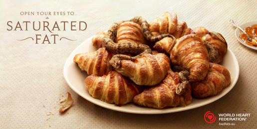 Croissants in WWF Saturated Fat print advertising campaign