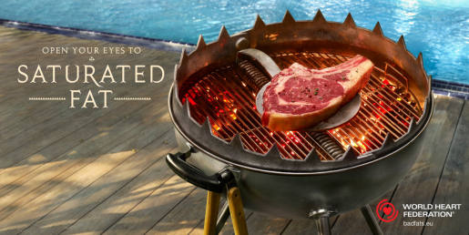 Steak in WWF Saturated Fat print advertising campaign