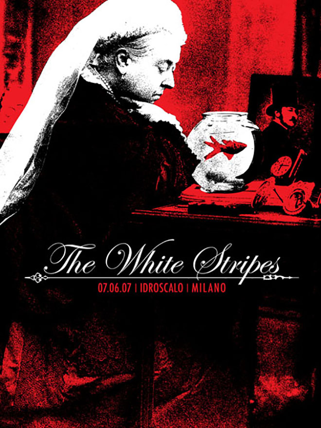 The White Stripes gig poster - Queen Victoria