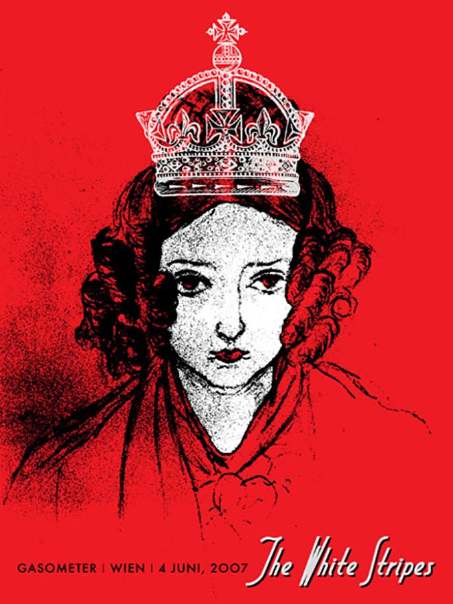 The White Stripes gig poster - Queen
