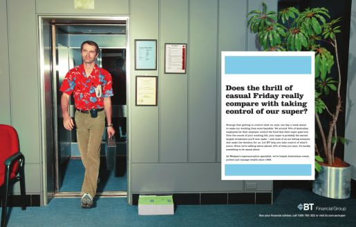 BT Financial Casual Friday print advertisement