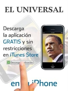 Barack Obama in El Universal podcast print advertisement