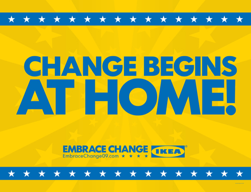 IKEA billboard Change Begins At Home