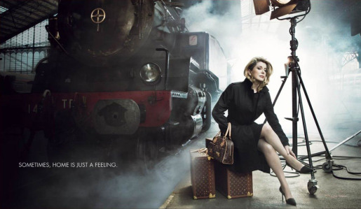 Catherine Deneuve in Louis Vuitton print advertisement