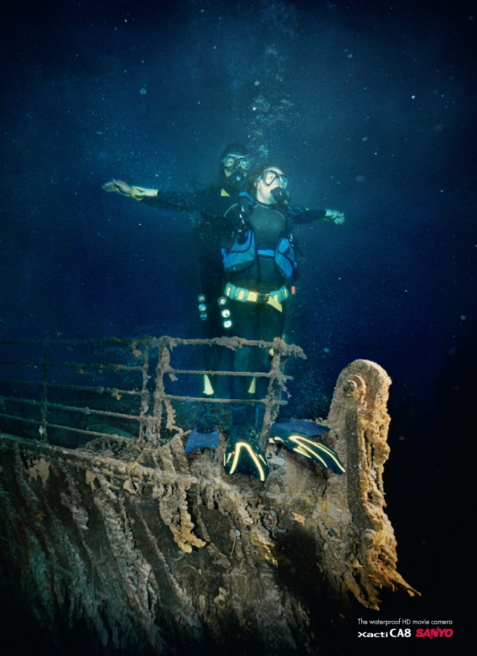 Sanyo Xacti for Underwater Titanic Photo