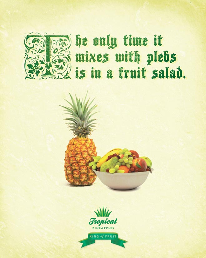 Tropical Pineapple print advertisement
