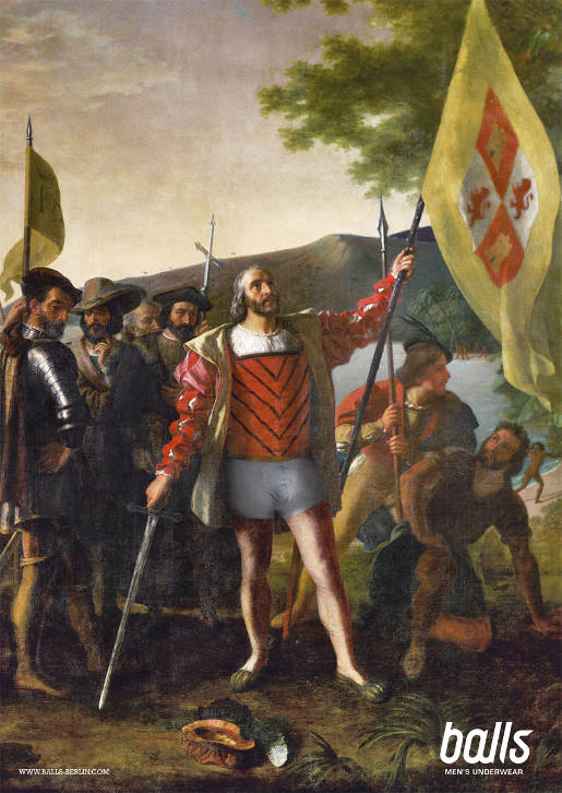 Christopher Columbus with Balls Underwear