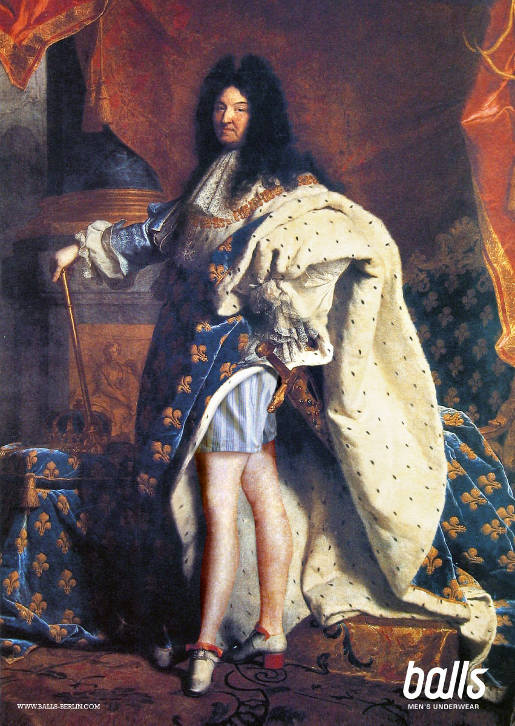 Louis XIV with Balls Underwear