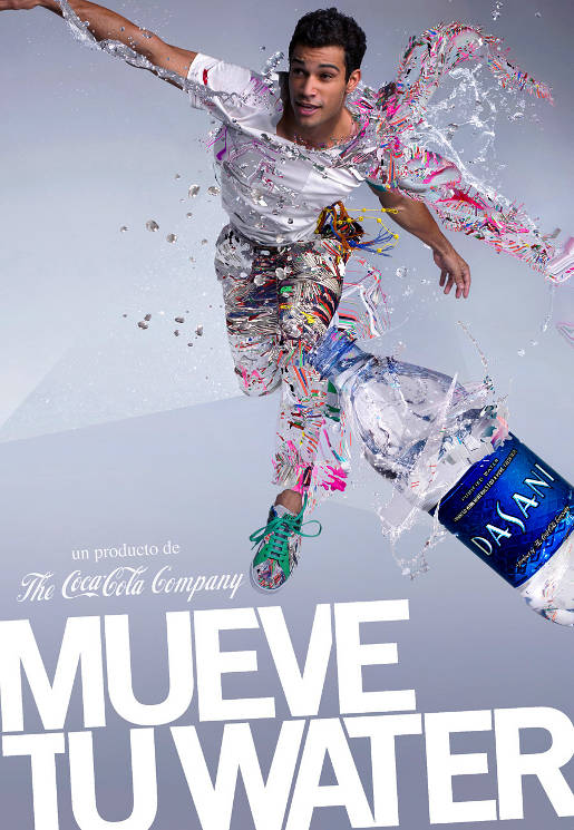 Dasani Mueve Tu Water print advertisement