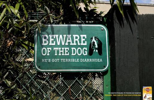 Pedigree Beware of the Dog Diarrhoea