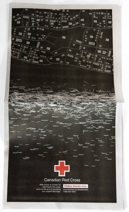Red Cross Tsunami print advertisement
