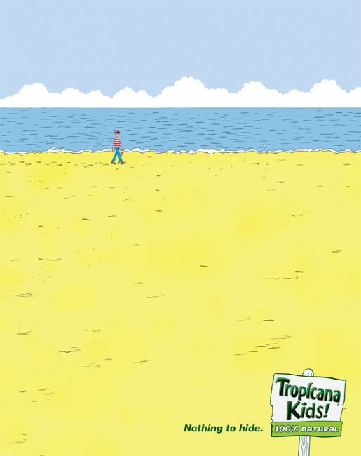 Where's Wally in Tropicana Kids print advertisement